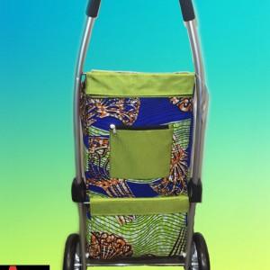 Chariot de course vert wax peigne