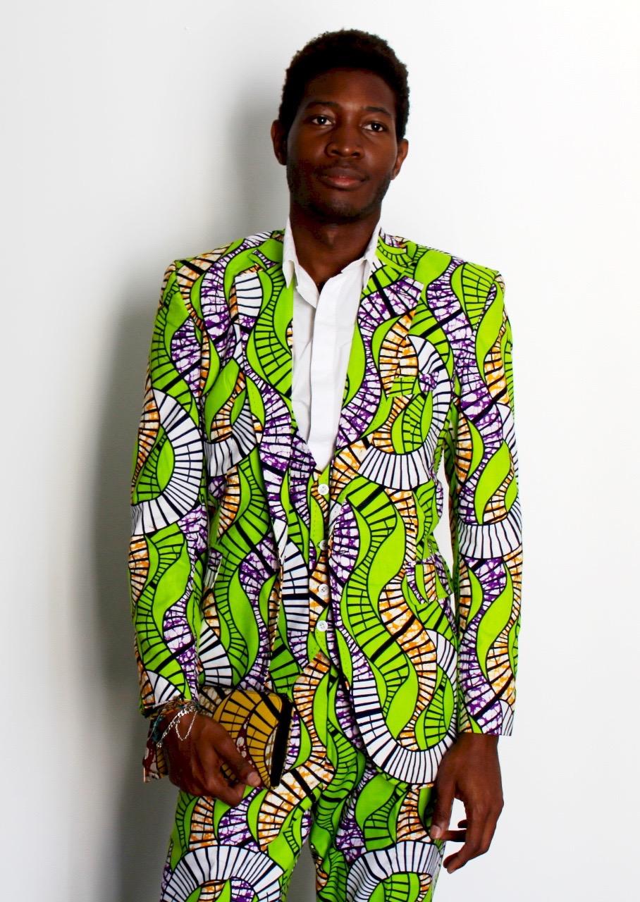 costume trois pi u00e8ces wax vert ondul u00e9  u2013 awaxland paris