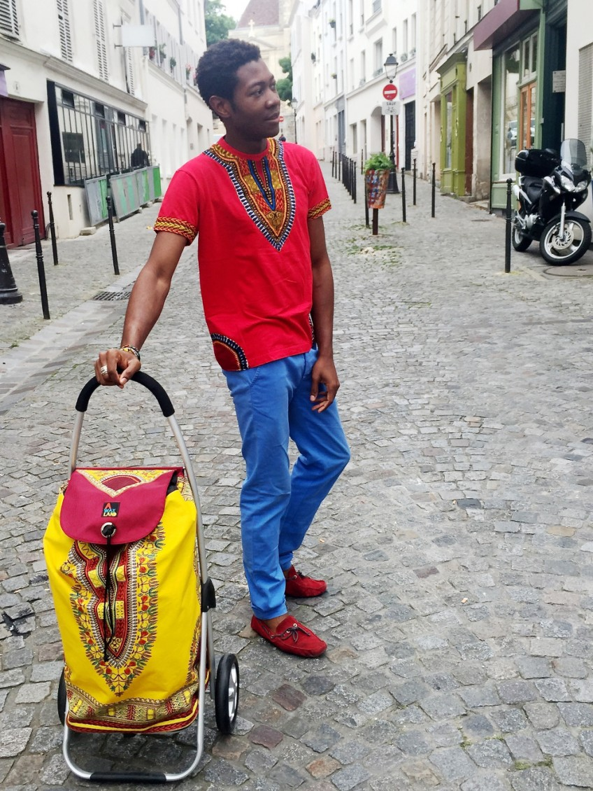 Chariot de course wax Adis Abeba ou dashiki