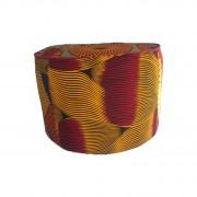 Pouf patchwork tissu wax