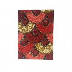 Carnet de note 40p wax éventail rouge