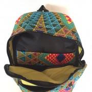 Sac à dos wax géométrique multicolore