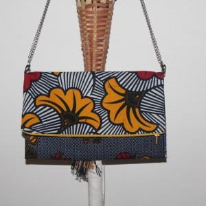 Sac pochette «La Parisienne» : motifs patchwork