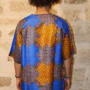 Tshirt kimono wax homme femme