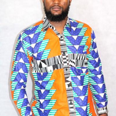 Chemise wax homme africain boubou
