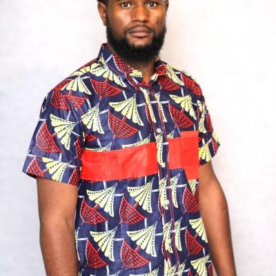 chemisette chemise wax homme africain boubou