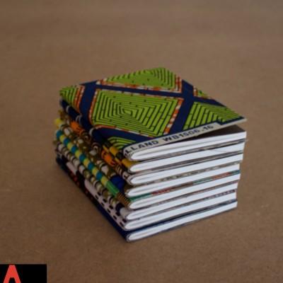 Carnets de notes recouverts de tissu wax